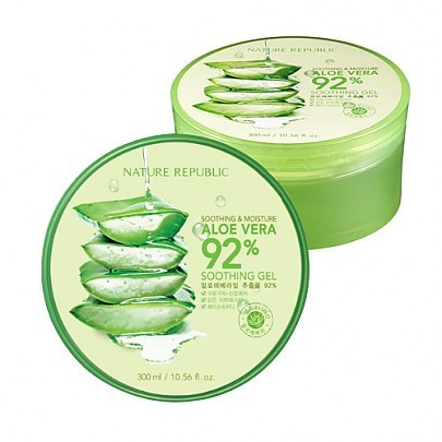 NATURE REPUBLIC Aloe Vera Soothing Gel, 92% Soothing and Moisture 300ml
