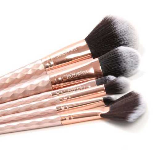 unicorn brush set. beauty creations 6pc rose gold unicorn brush set